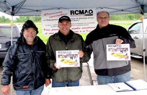 Photo: L'équipe de départ du RCMAQ (de gauche à droite) Jean Paul Mercier (fondateur) Marcel Marchildon (Vice-Président) et Martin Lesage (fondateur).